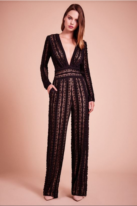 Dunaway Textured Knit Jumpsuit