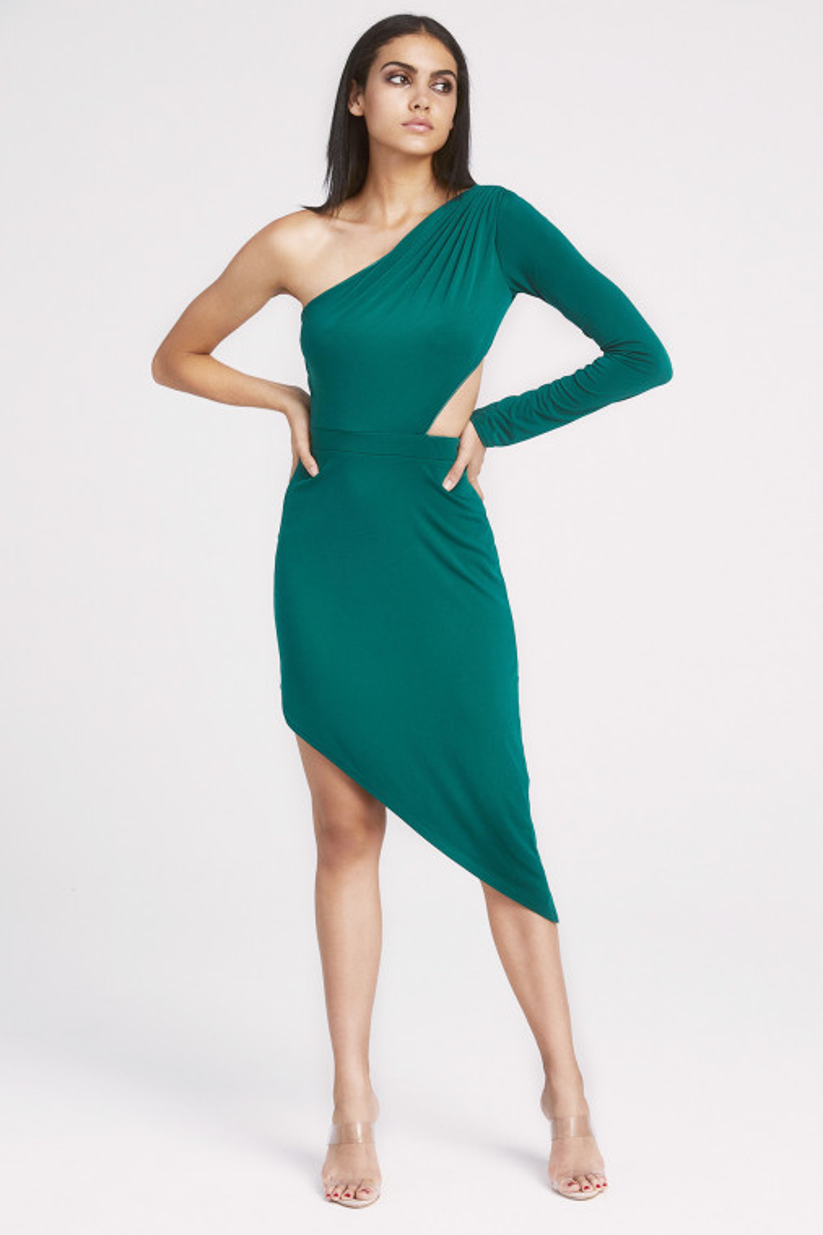 Jordyn Asymmetrical One-Shoulder Cocktail Dress