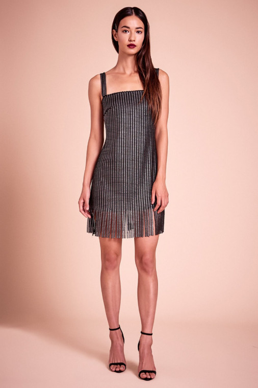 Jimi Metallic Jersey Mini Dress