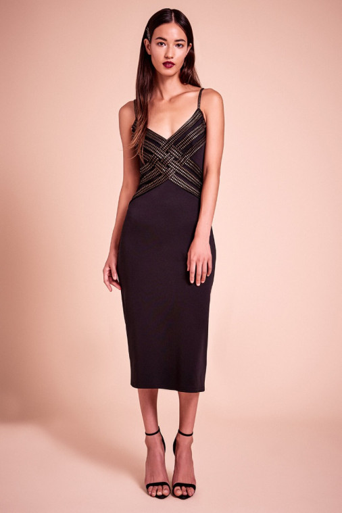Jackson Foil Jersey Dress