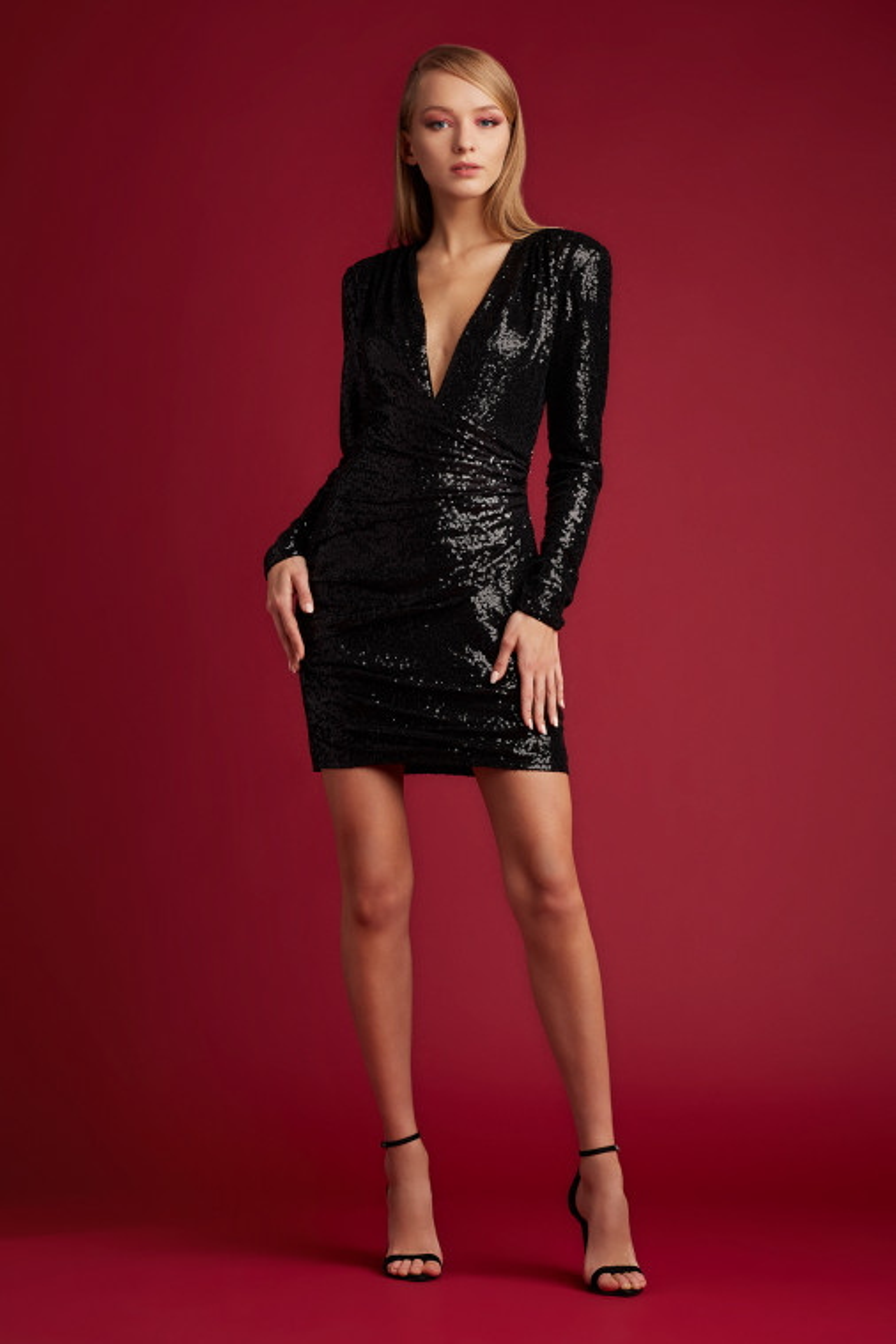 Minka Deep V Mini Dress