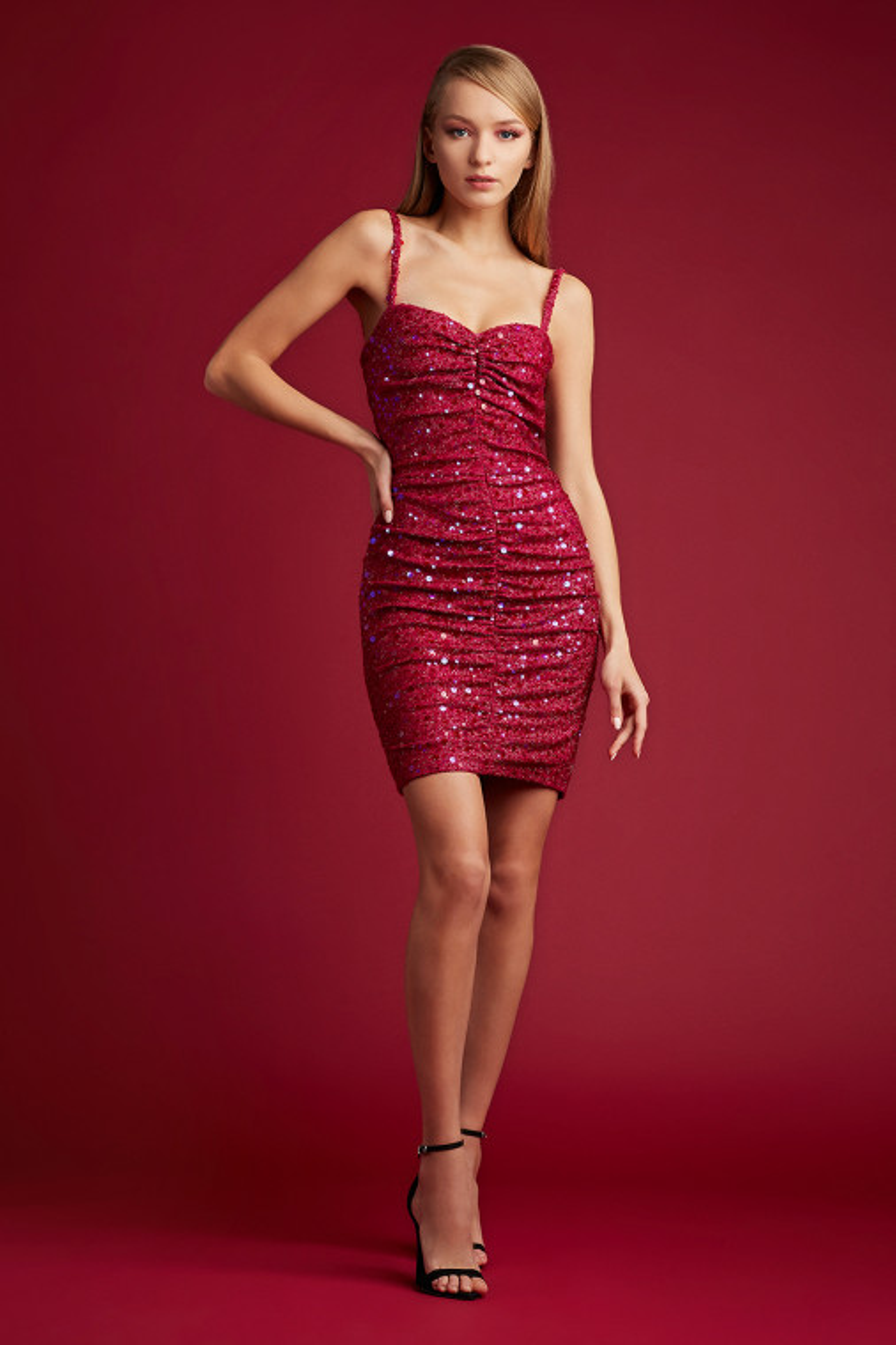 Davy Sequin Knit Mini Dress