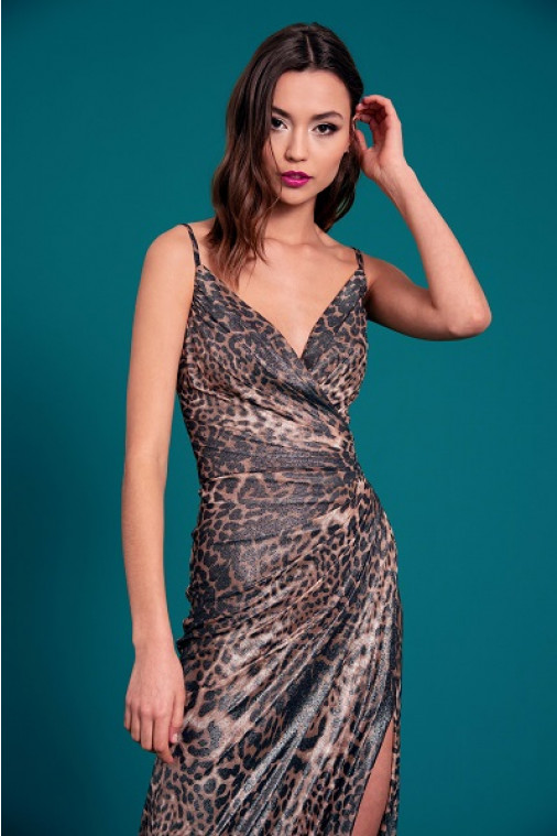 Gunnar Animal Print Slip Dress