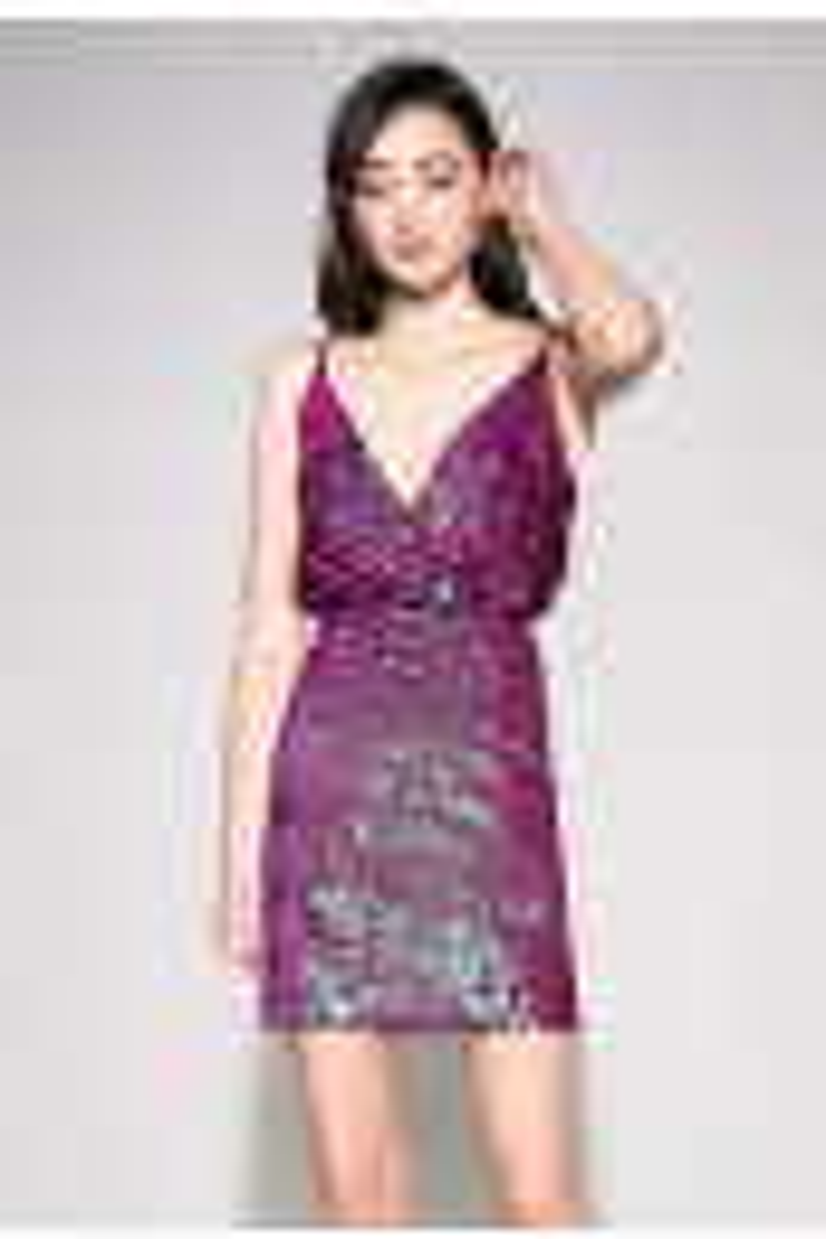 Elin Sequin Strap Mini Dress